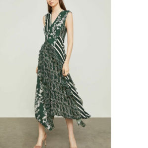 NWT BCBGMaxAzria Spruce Combo Floral Blooms Dress
